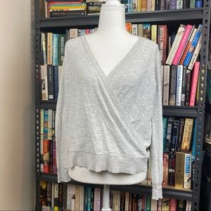 Jeanswest Gray Long Sleeve Wrap Top Size S